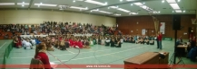 Begrüßung in der gefüllten Halle