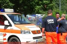 Übergabe an den Krankentransportwagen