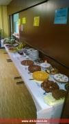 Das Kuchen- und Salat-Buffet
